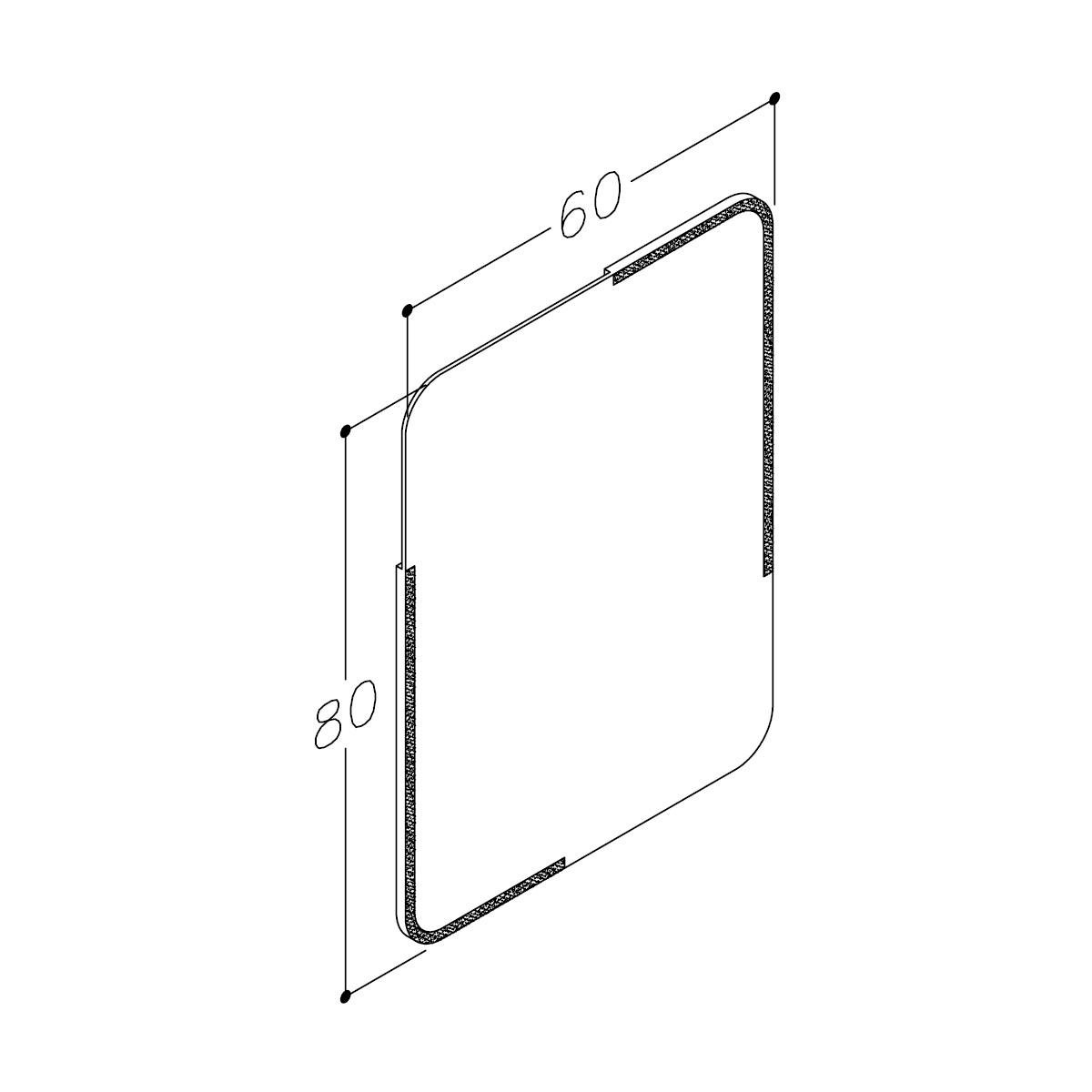 Speil60medhjørnedekor,IP44