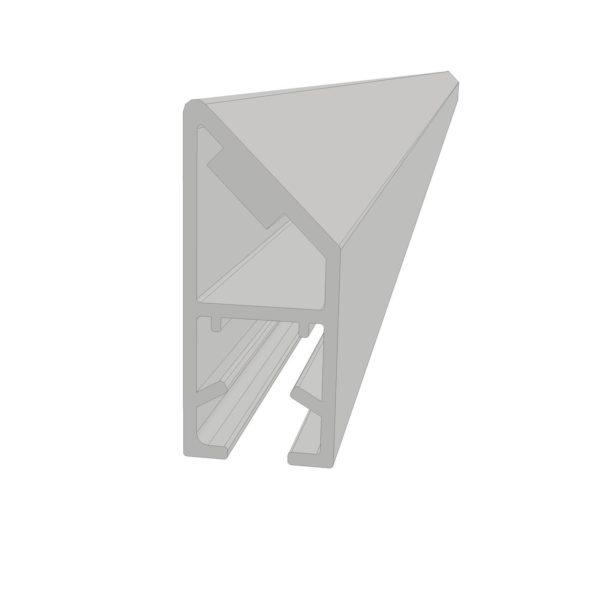 Magnetprofil fast glassfelt hjørnemontering - Klar PVC