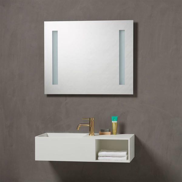 Speil med integrert Lys 80 cm