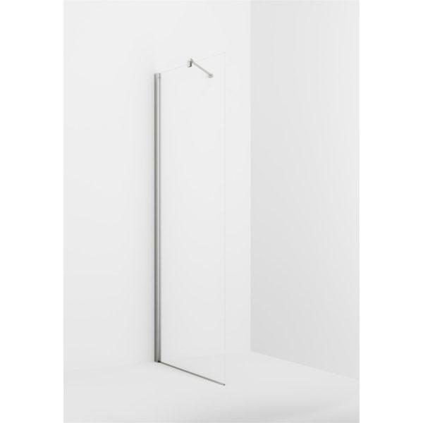 VikingBad glassfelt rett Liam 20-120cm sølv profil